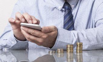 Man Sorting Finances
