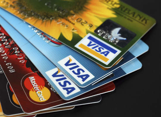Visa credit card's place in market