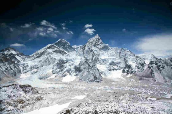 Mount Everest is renowned as the highest spot on earth, at 8,848 metres above sea level. It is parked right on the border between Nepal and Chinese-owned Tibet, and it is protected by Sagarmatha National Park in the Himalayas.