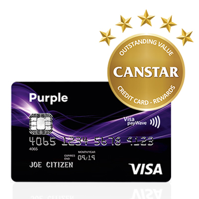 Warehouse Money Purple Visa Card