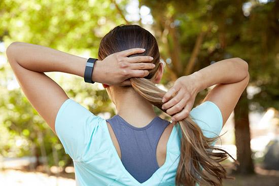 Fitbit running girl