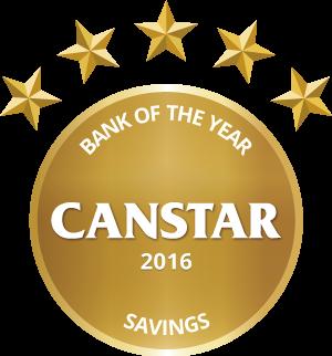 CANSTAR 2016 Bank of the Year Savings Award logo
