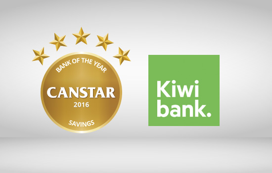 Kiwibank wins Canstar 2016 Bank of the Year Savings Award